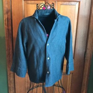 CP Shades Jacket Blue 3/4 Sleeves XS Cotton